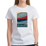 Burger in Red and Blue Women's T-Shirt