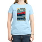 Burger in Red and Blue Women's Light T-Shirt