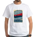 Burger in Red and Blue White T-Shirt