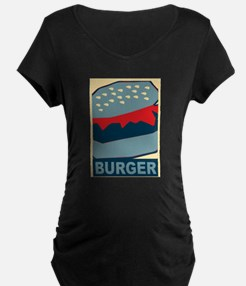 Burger in Red and Blue T-Shirt