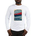 Burger in Red and Blue Long Sleeve T-Shirt