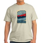 Burger in Red and Blue Light T-Shirt