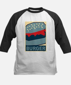 Burger in Red and Blue Tee