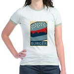 Burger in Red and Blue Jr. Ringer T-Shirt