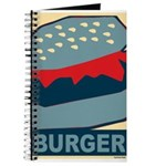 Burger in Red and Blue Journal
