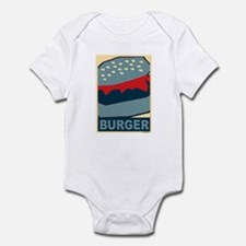 Burger in Red and Blue Infant Bodysuit
