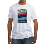 Burger in Red and Blue Fitted T-Shirt
