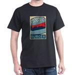 Burger in Red and Blue Dark T-Shirt