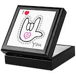 B/W Bold I-Love-You Keepsake Box