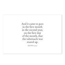 EXODUS  40:17 Postcards (Package of 8)