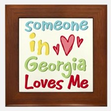 Someone in Georgia Loves Me Framed Tile