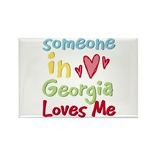 Someone in Georgia Loves Me Rectangle Magnet (100