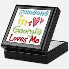 Someone in Georgia Loves Me Keepsake Box