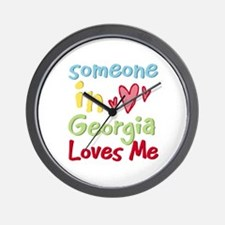 Someone in Georgia Loves Me Wall Clock