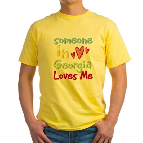 Someone in Georgia Loves Me Yellow T-Shirt