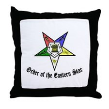 Cute Order of eastern star Throw Pillow