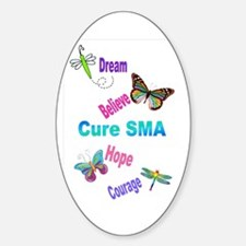 Cure SMA Oval Decal