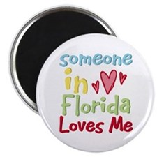 """Someone in Florida Loves Me 2.25"""" Magnet (10 pack)"""