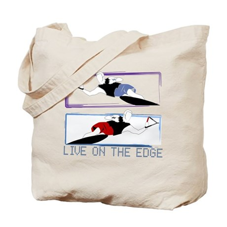 Live on the edge Slalom Tote Bag