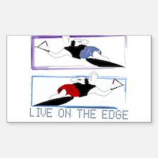 Live on the edge Slalom Rectangle Sticker 10 pk)