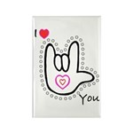 B/W Bold I-Love-You Rectangle Magnet (10 pack)