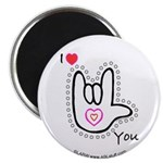 B/W Bold I-Love-You Magnet