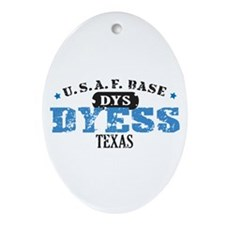 Dyess Air Force Base Oval Ornament