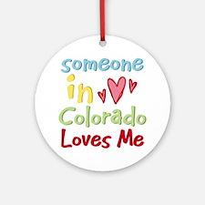Someone in Colorado Loves Me Ornament (Round)