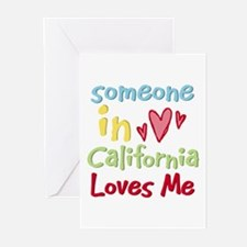 Someone in California Loves Me Greeting Cards (Pk