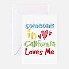 Someone in California Loves Me Greeting Cards (Pk