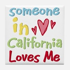 Someone in California Loves Me Tile Coaster