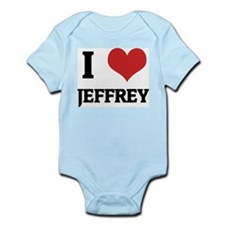 I Love Jeffrey Infant Creeper