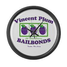 Vincent Plum Bail Bonds Large Wall Clock