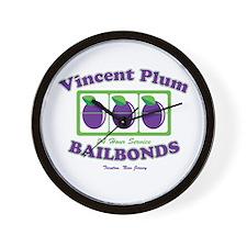 Vincent Plum Bail Bonds Wall Clock
