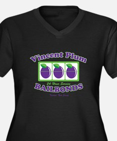 Vincent Plum Bail Bonds Women's Plus Size V-Neck D