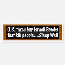 USA Israel Zionist Palestine Bumper Bumper Bumper Sticker
