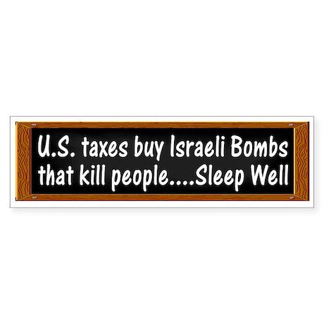 USA Israel Zionist Palestine Bumper Sticker