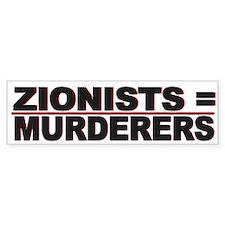 Israel Zionist Murderers - Bumper Sticker