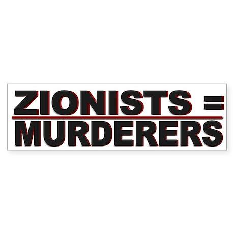 Israel Zionist Murderers - Sticker (Bumper)