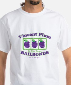 Vicent Plum Bail Bonds Distre Shirt