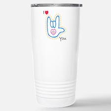 Blue Bold I-Love-You Travel Mug