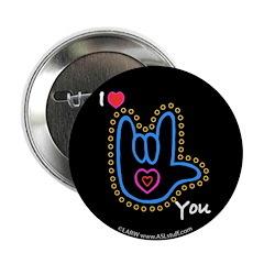 Blue Bold I-Love-You Black 2.25