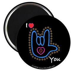 Blue Bold I-Love-You Black 2.25