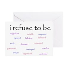 I Refuse to be... Greeting Card
