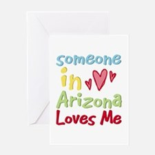 Someone in Arizona Loves Me Greeting Card