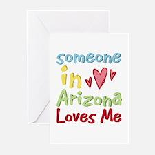 Someone in Arizona Loves Me Greeting Cards (Pk of
