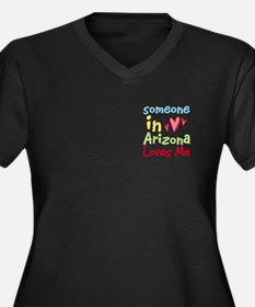 Someone in Arizona Loves Me Women's Plus Size V-Ne