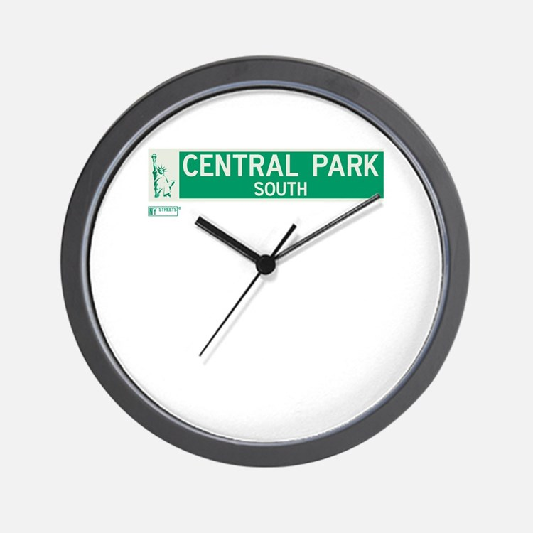 Central Park South in NY Wall Clock