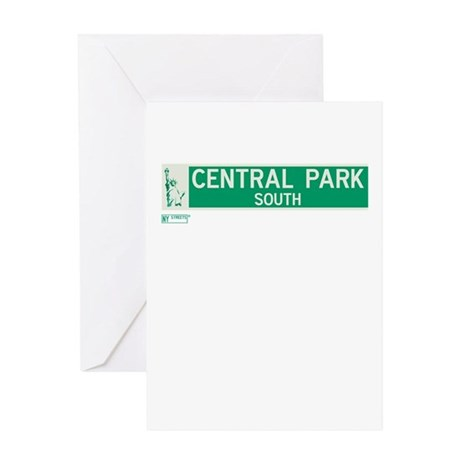 Central Park South in NY Greeting Card