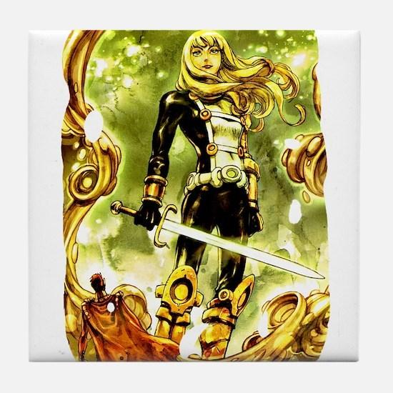Cute Martial art Tile Coaster
